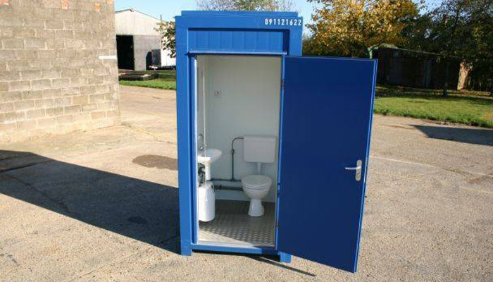 a space photo of single mains toilet for hire